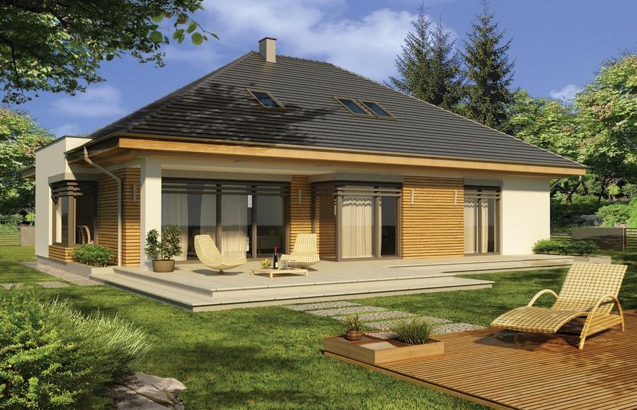 Zdjęcie dla projektu : ALABAMA 4 wersja C pojedynczy garaż