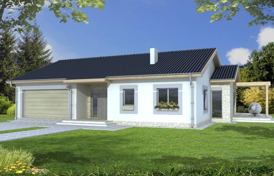 Zdjęcie dla projektu : AGAT wersja B dach 32 stopnie