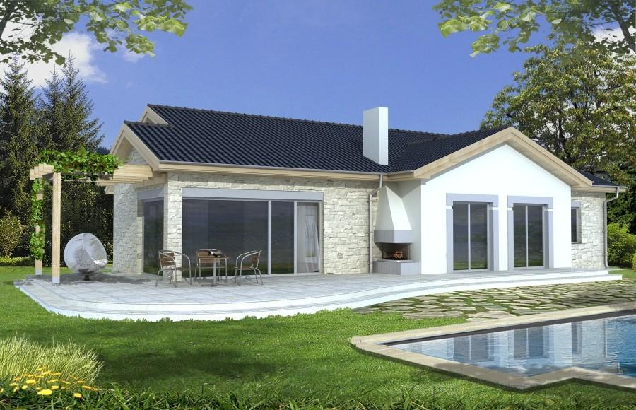 Zdjęcie dla projektu : AGAT wersja A dach 22 stopnie