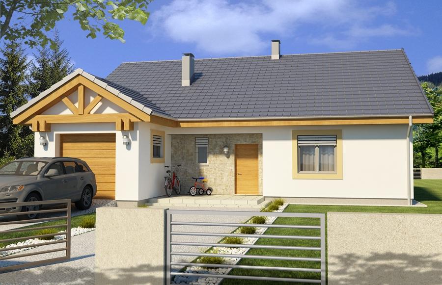 Zdjęcie dla projektu : AMBROZJA 2 wersja A parterowa z pojedynczym garażem