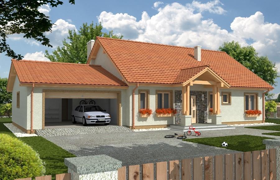 Zdjęcie dla projektu : ANITA wersja B z podwójnym garażem paliwo stałe
