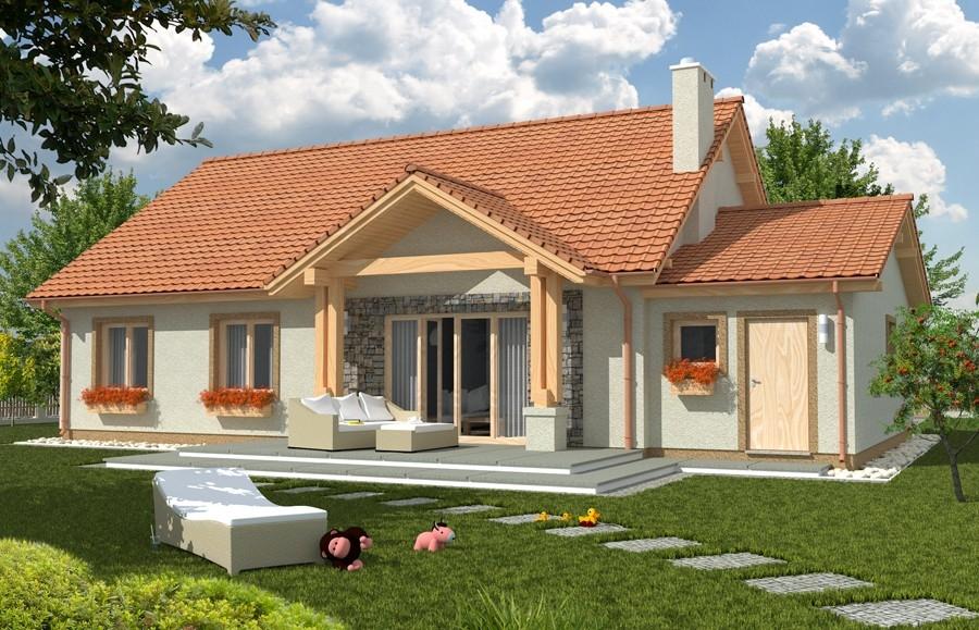 Zdjęcie dla projektu : ANITA wersja A z pojedynczym garażem