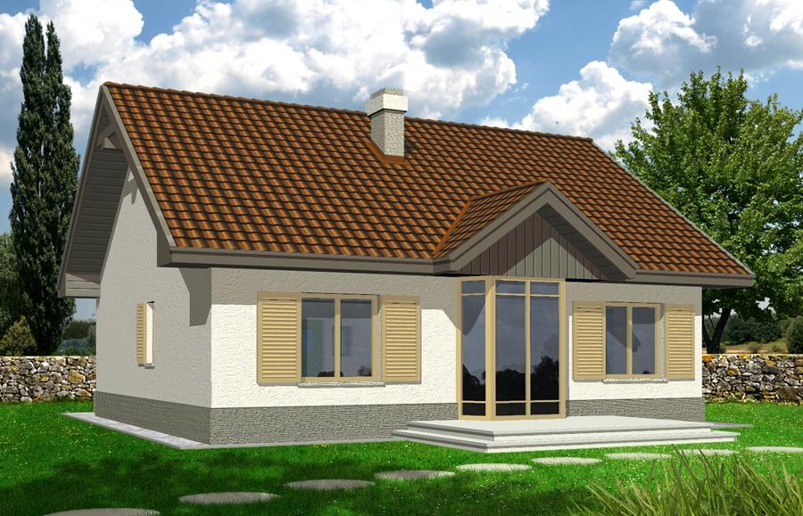 Zdjęcie dla projektu : ANGELA wersja A z pojedynczym garażem z lewej